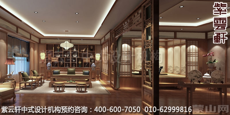 沈阳禅茶会所简约中式装修效果图 舒适宜人高清图片